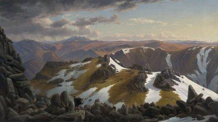 Eugene von Guerard, 'Mt Kosciusko'
